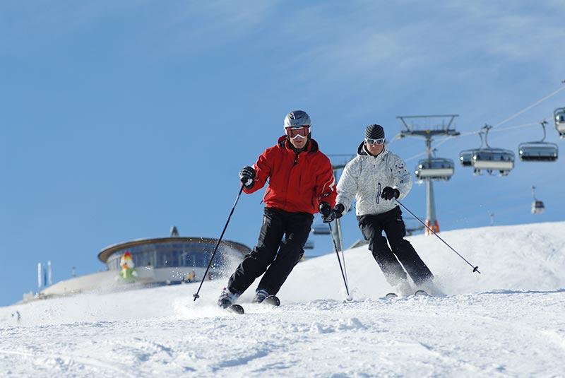 Skiing at Plan Corones